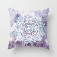 DEEP PURPLE MANDALA Throw Pillow