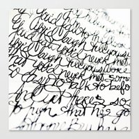 Script Unwind & Relax Canvas Print