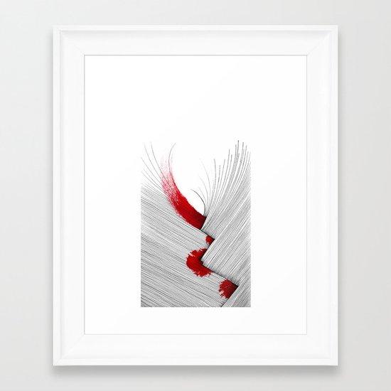 Impact (white version) Framed Art Print