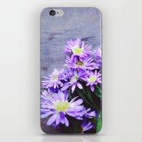Pretty Blue Flowers iPhone & iPod Skin