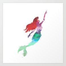 Ariel Little Mermaid Art Print