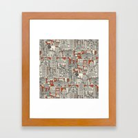 Hong Kong Toile De Jouy Framed Art Print