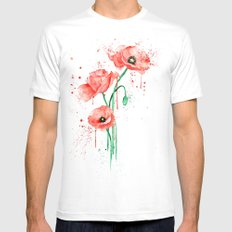 poppy Mens Fitted Tee SMALL White