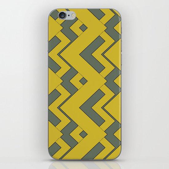 zig zag mustard iPhone & iPod Skin