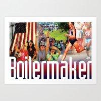 Boilermaker Road Race Art Print