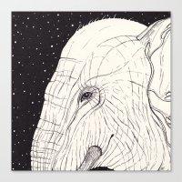 Animal Moments: Elephant Canvas Print