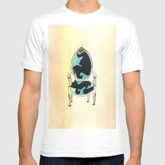 Curieux SMALL White Mens Fitted Tee