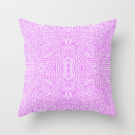 Throw Pillow Lilac : Radate (Lilac) Throw Pillow by Jacqueline Maldonado Society6