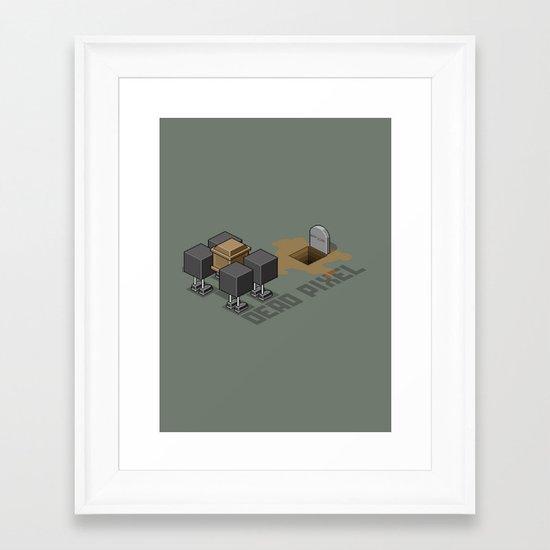 Dead Pixel Framed Art Print