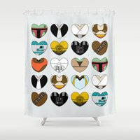 Character Hearts Shower Curtain