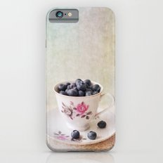 Scratched Blueberries iPhone 6 Slim Case