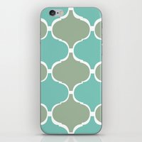 Marrakech Pattern Sea Green iPhone & iPod Skin