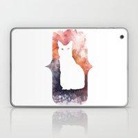 White Cat Laptop & iPad Skin
