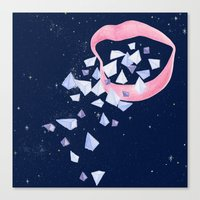 Your words are diamonds Canvas Print