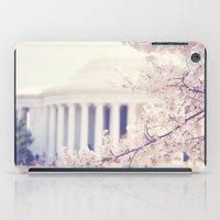 Cherry Blossoms at the Jefferson Memorial Washington DC iPad Case
