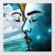 Canvas Print featuring Lover's Kiss by Eugenia Loli
