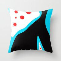 Blue Black Red Throw Pillow