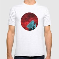 Space Rabbit Mens Fitted Tee Ash Grey SMALL