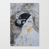 Graffiti Woman Canvas Print
