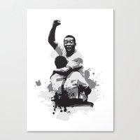 Pele Brazil Canvas Print