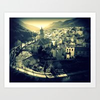 Panorama of Arnedillo Art Print
