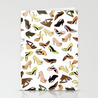 shoes Stationery Cards featuring Shoes by Jeanne Bornet