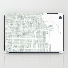 Map Chicago city watercolor map iPad Case