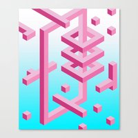 Isometric Adventure Canvas Print