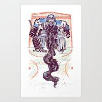 Playoff Beards Art Print