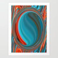 Hot And Cold Mind Art Print