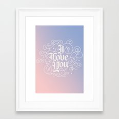 3 Little Words Framed Art Print