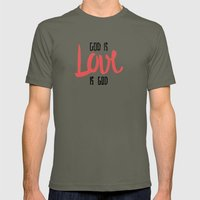 God is LOVE is God Mens Fitted Tee Lieutenant SMALL