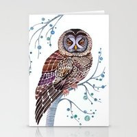 lacy owl Stationery Cards