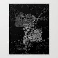 Albuquerque Map New Mexi… Canvas Print