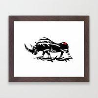 Angry Rhino Framed Art Print