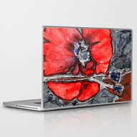 Poppies(crystal). Laptop & iPad Skin