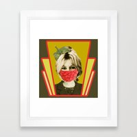 i guess she is a vegan Framed Art Print