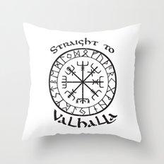 Straight to Valhalla, Vikings Throw Pillow