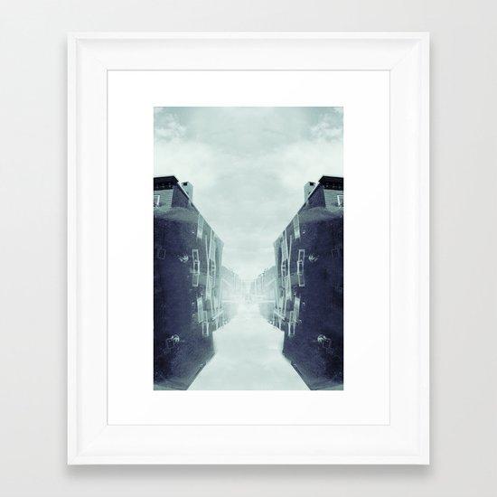 city in the sky Framed Art Print