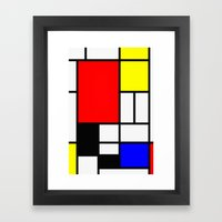 Mondrian Art Framed Art Print