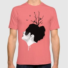 Growth Mens Fitted Tee Pomegranate SMALL