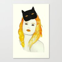 Be a cat Canvas Print