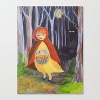 Little red-riding hood Canvas Print