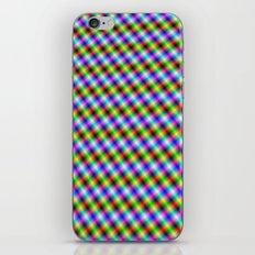 Crosshatch in Neon iPhone & iPod Skin