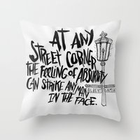 ALBERT CAMUS ROCKJAM Throw Pillow