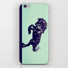 Dark Blue Stallion iPhone & iPod Skin