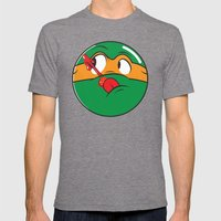 Who Watches The Pizza? Mens Fitted Tee Tri-Grey SMALL