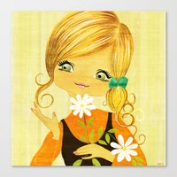 Sunshine Flower Girl Canvas Print