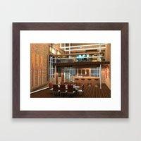 Loft Apartment Dining Room Framed Art Print