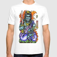 fudo White SMALL Mens Fitted Tee